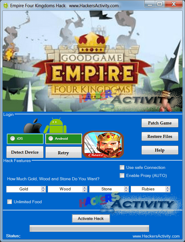 Empire Four Kingdoms hackers
