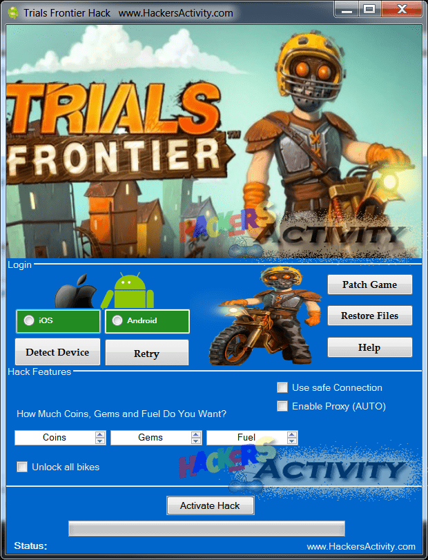 Trials Frontier tips