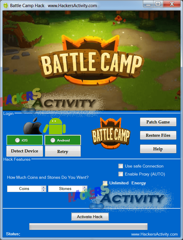 Battle Camp generator