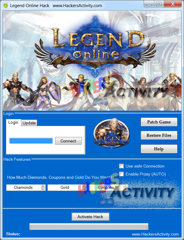 cheats legend online