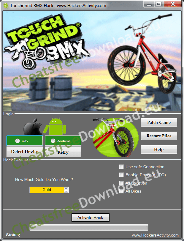 Touchgrind BMX Hack and cheat tool