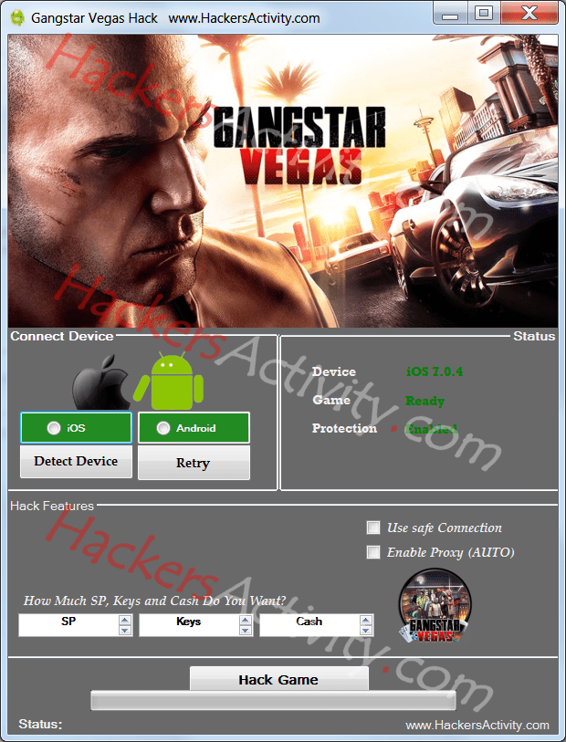Gangstar Vegas cheat Hack